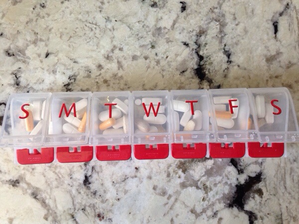 Monday through Friday pill box