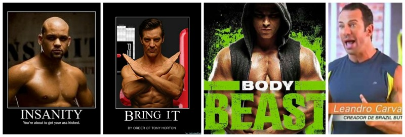 brazil butt lift, P90X, Insanity, Body Beast, Body Beast for women, Shaun T, Leandro Carvalho, Tony Horton